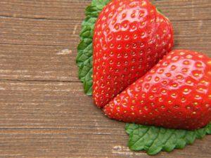 Fresas en corazón