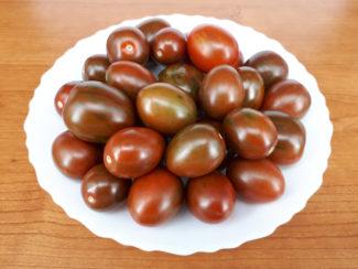 Montón de tomates Kumato cherry